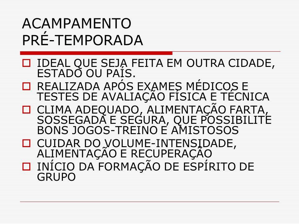 ACAMPAMENTO PRÉ-TEMPORADA