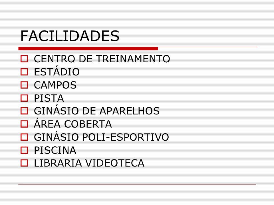 FACILIDADES CENTRO DE TREINAMENTO ESTÁDIO CAMPOS PISTA