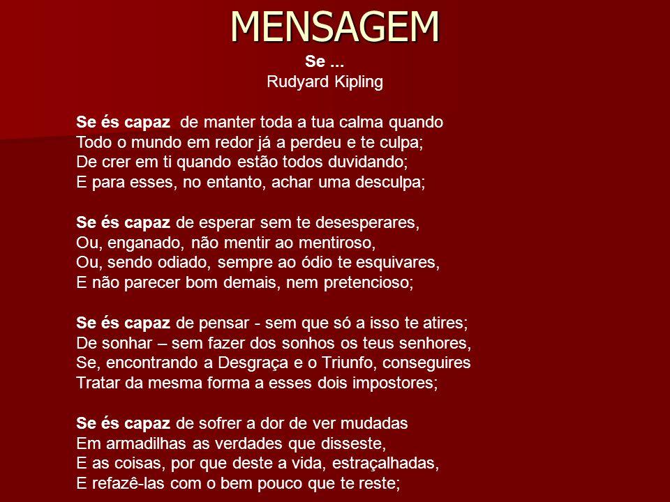 MENSAGEM Se ... Rudyard Kipling