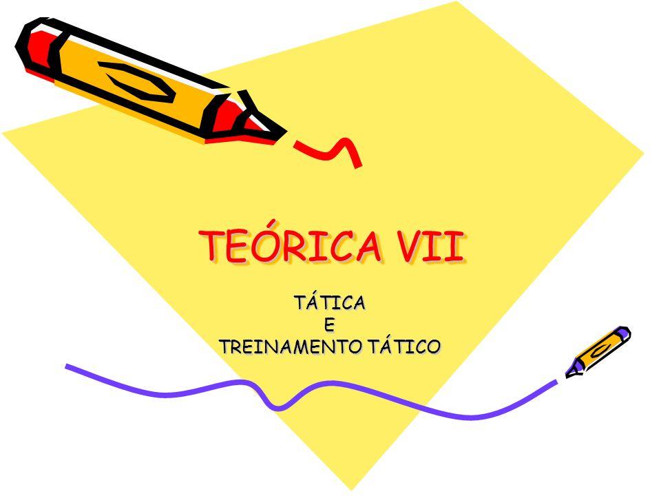 TÁTICA E TREINAMENTO TÁTICO