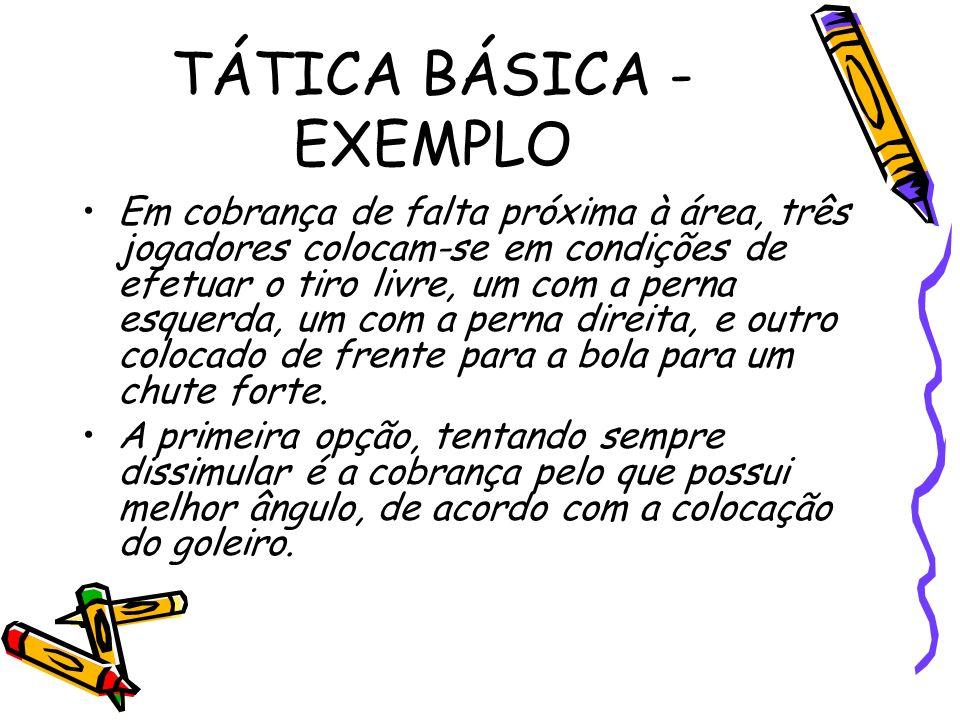 TÁTICA BÁSICA - EXEMPLO