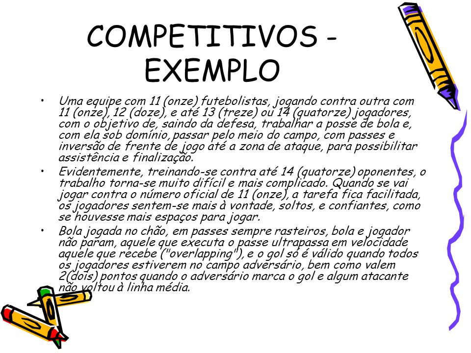COMPETITIVOS - EXEMPLO