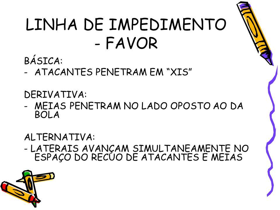 LINHA DE IMPEDIMENTO - FAVOR