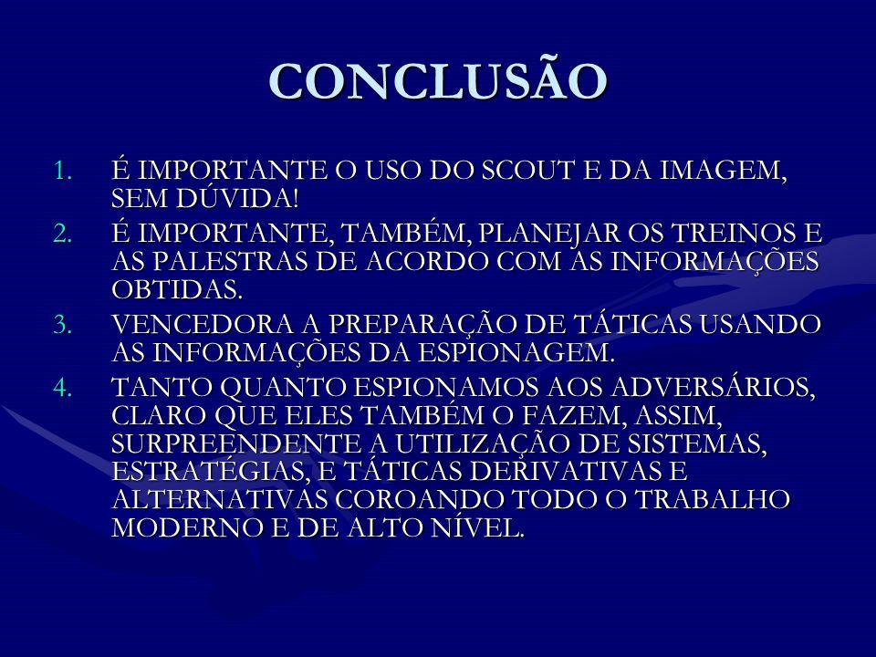 CONCLUSÃO É IMPORTANTE O USO DO SCOUT E DA IMAGEM, SEM DÚVIDA!