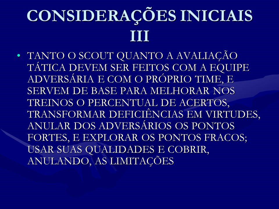CONSIDERAÇÕES INICIAIS III