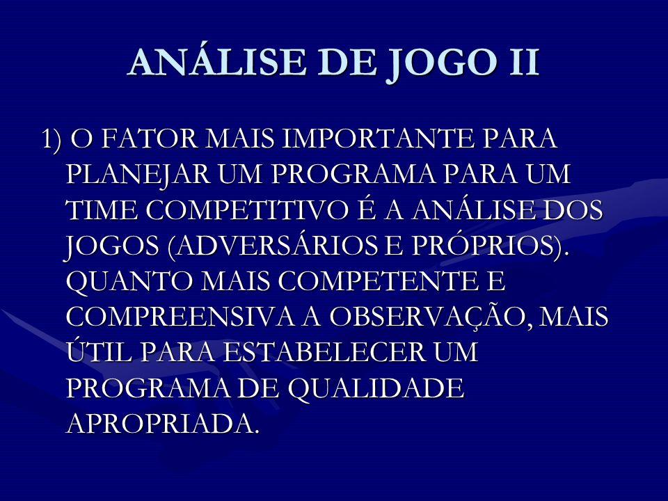ANÁLISE DE JOGO II