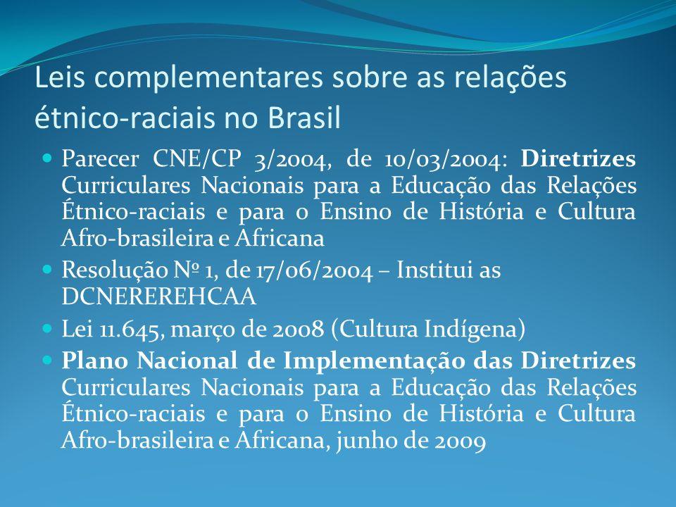 Leis complementares sobre as relações étnico-raciais no Brasil