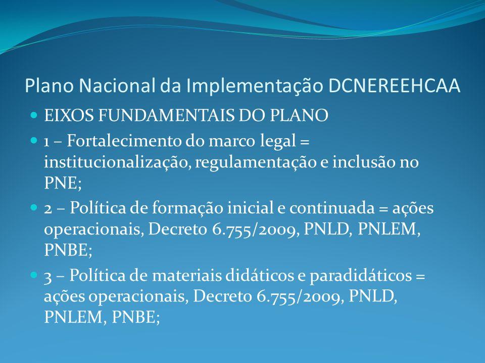 Plano Nacional da Implementação DCNEREEHCAA