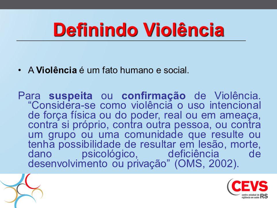 Definindo ViolênciaA Violência é um fato humano e social.