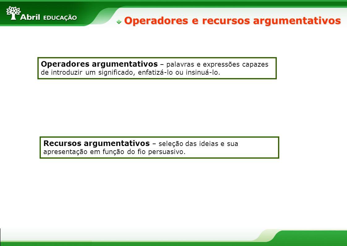 Operadores e recursos argumentativos