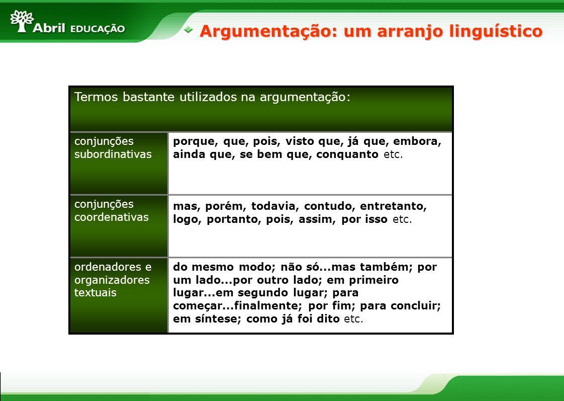 Argumentação: um arranjo linguístico
