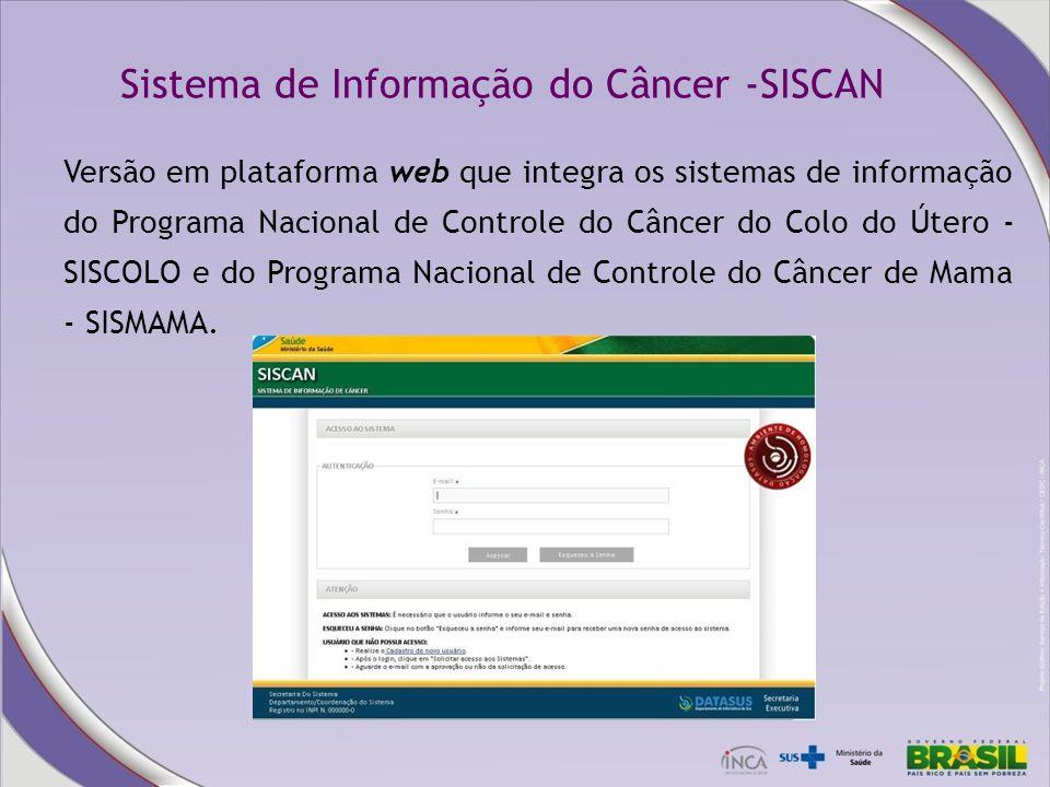 Sistema de Informação do Câncer -SISCAN