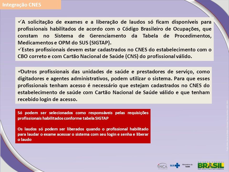 Integração CNES