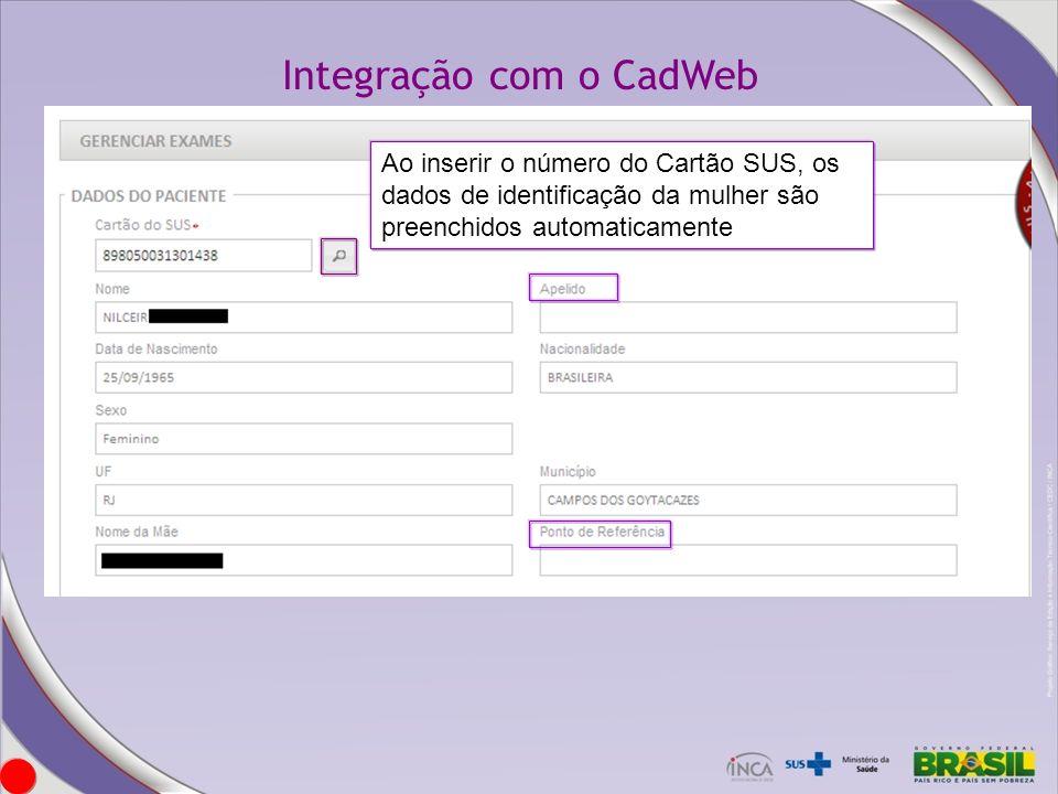 Integração com o CadWeb