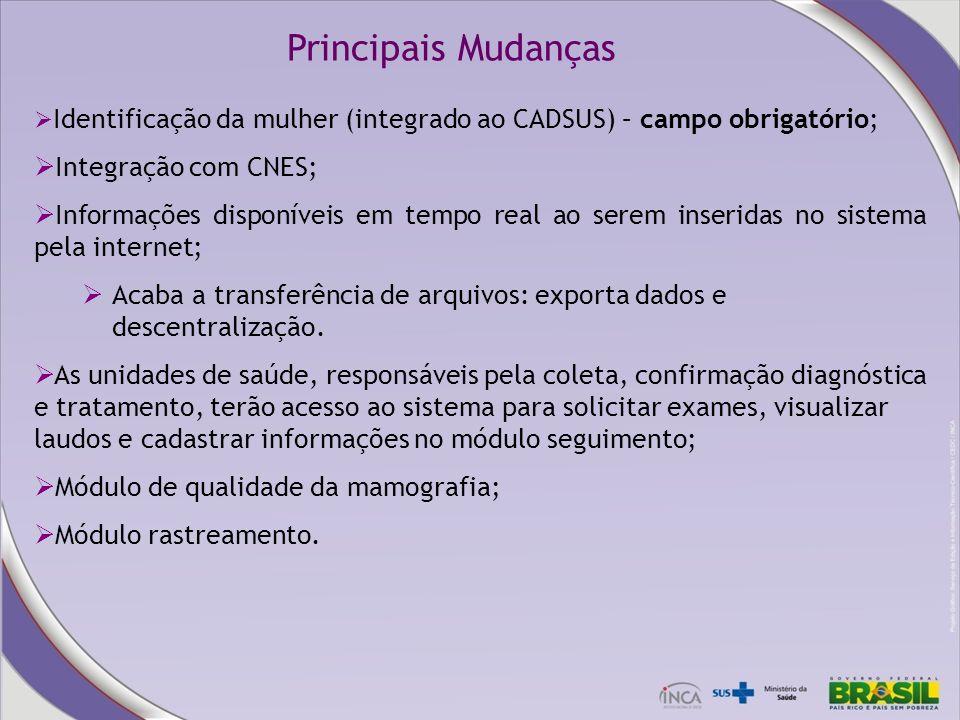 Principais Mudanças Integração com CNES;