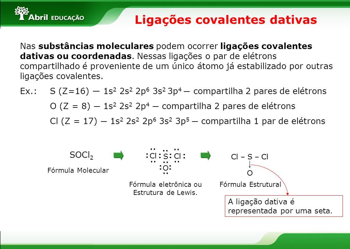 Ligações covalentes dativas