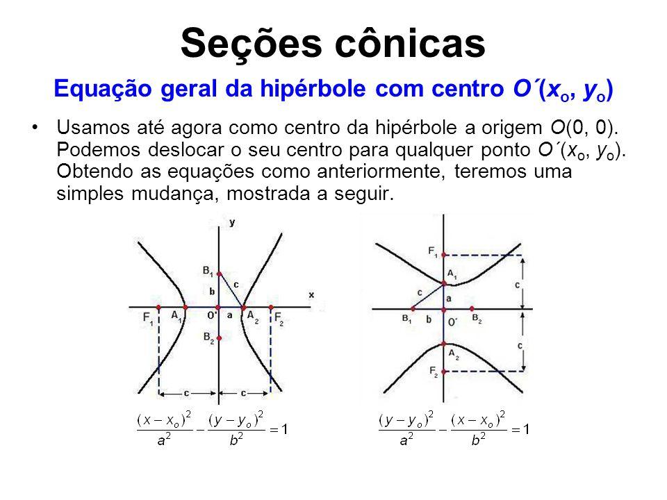 Equação geral da hipérbole com centro O´(xo, yo)