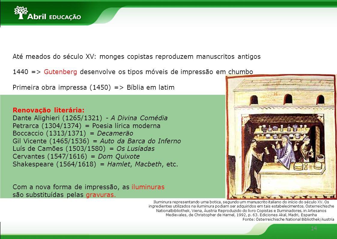 1440 => Gutenberg desenvolve os tipos móveis de impressão em chumbo