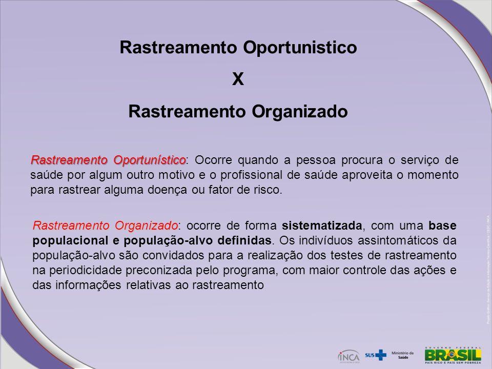 Rastreamento Oportunistico Rastreamento Organizado