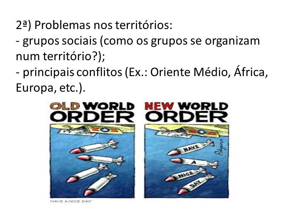 2ª) Problemas nos territórios:
