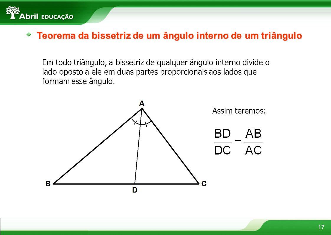 Teorema da bissetriz de um ângulo interno de um triângulo