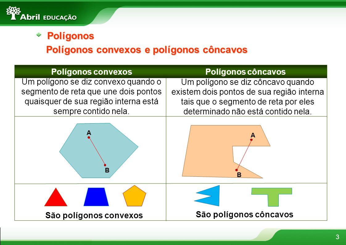 São polígonos convexos São polígonos côncavos
