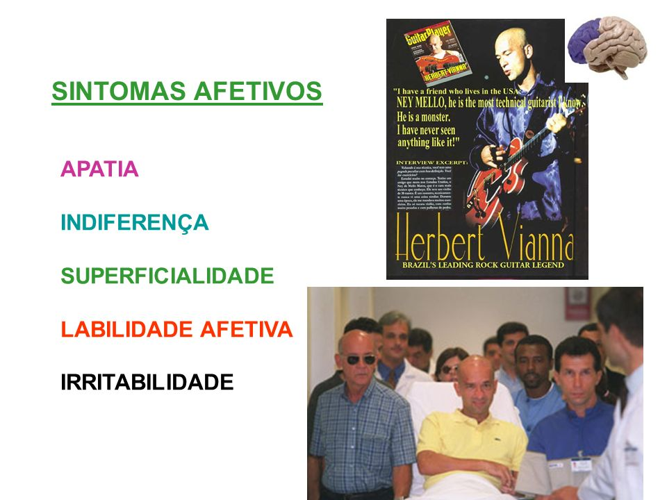 SINTOMAS AFETIVOS APATIA INDIFERENÇA SUPERFICIALIDADE