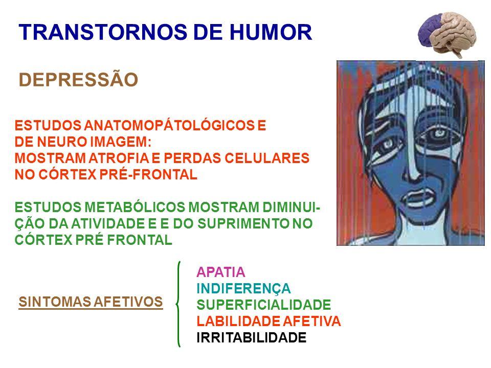 TRANSTORNOS DE HUMOR DEPRESSÃO ESTUDOS ANATOMOPÁTOLÓGICOS E