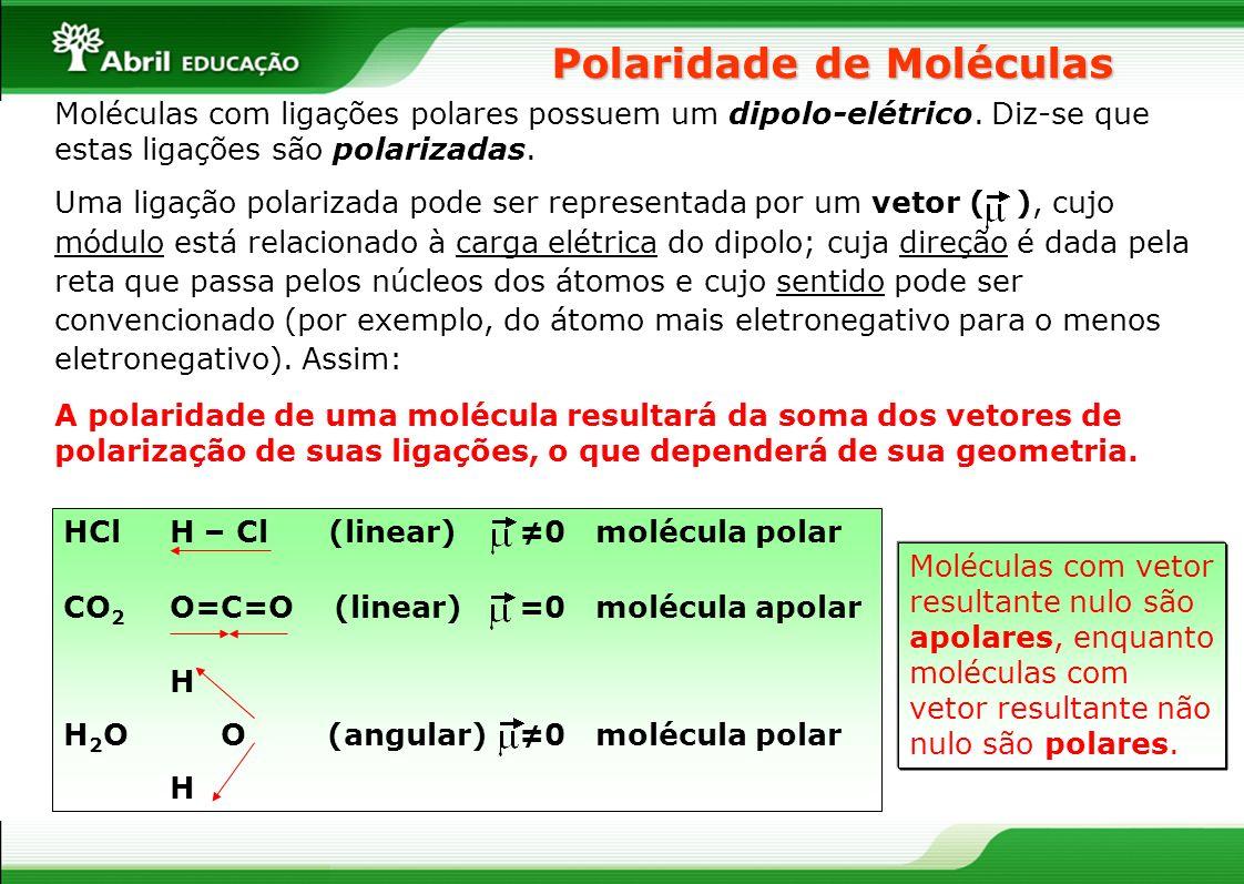 Polaridade de Moléculas