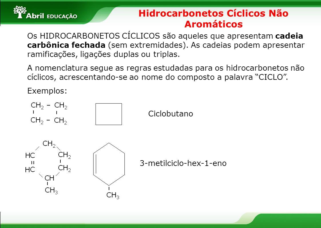 Hidrocarbonetos Cíclicos Não Aromáticos