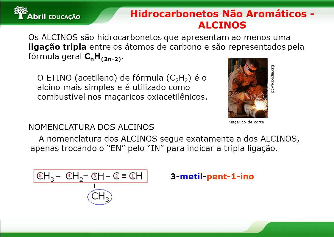 Hidrocarbonetos Não Aromáticos - ALCINOS