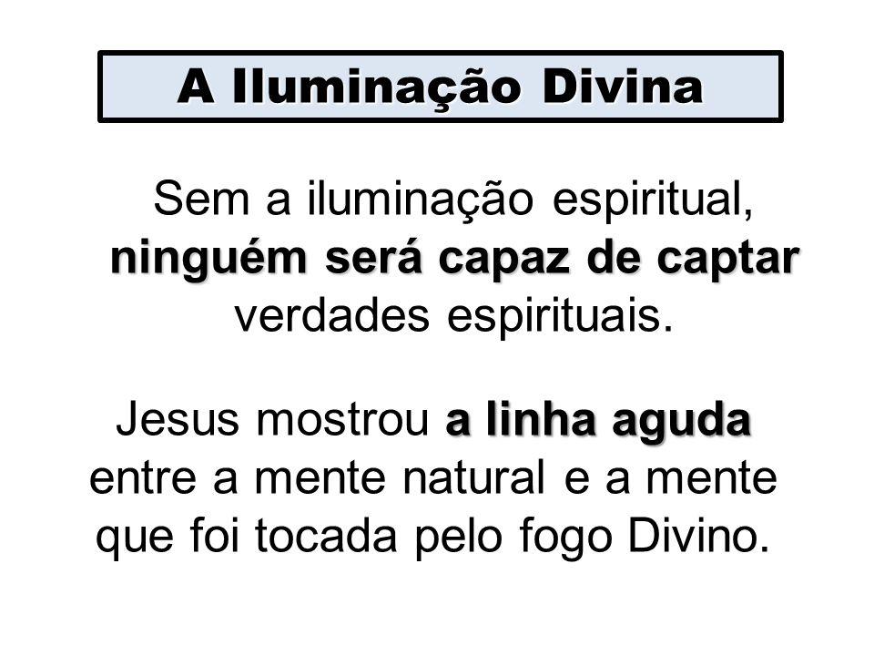 A Iluminação Divina Sem a iluminação espiritual, ninguém será capaz de captar verdades espirituais.