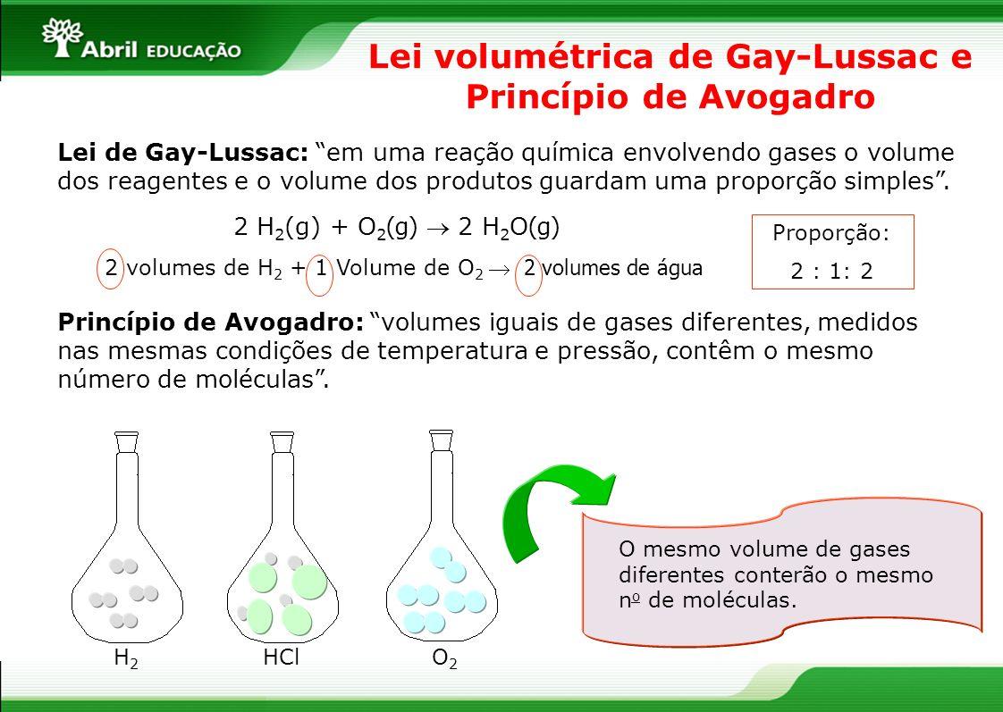 Lei volumétrica de Gay-Lussac e Princípio de Avogadro
