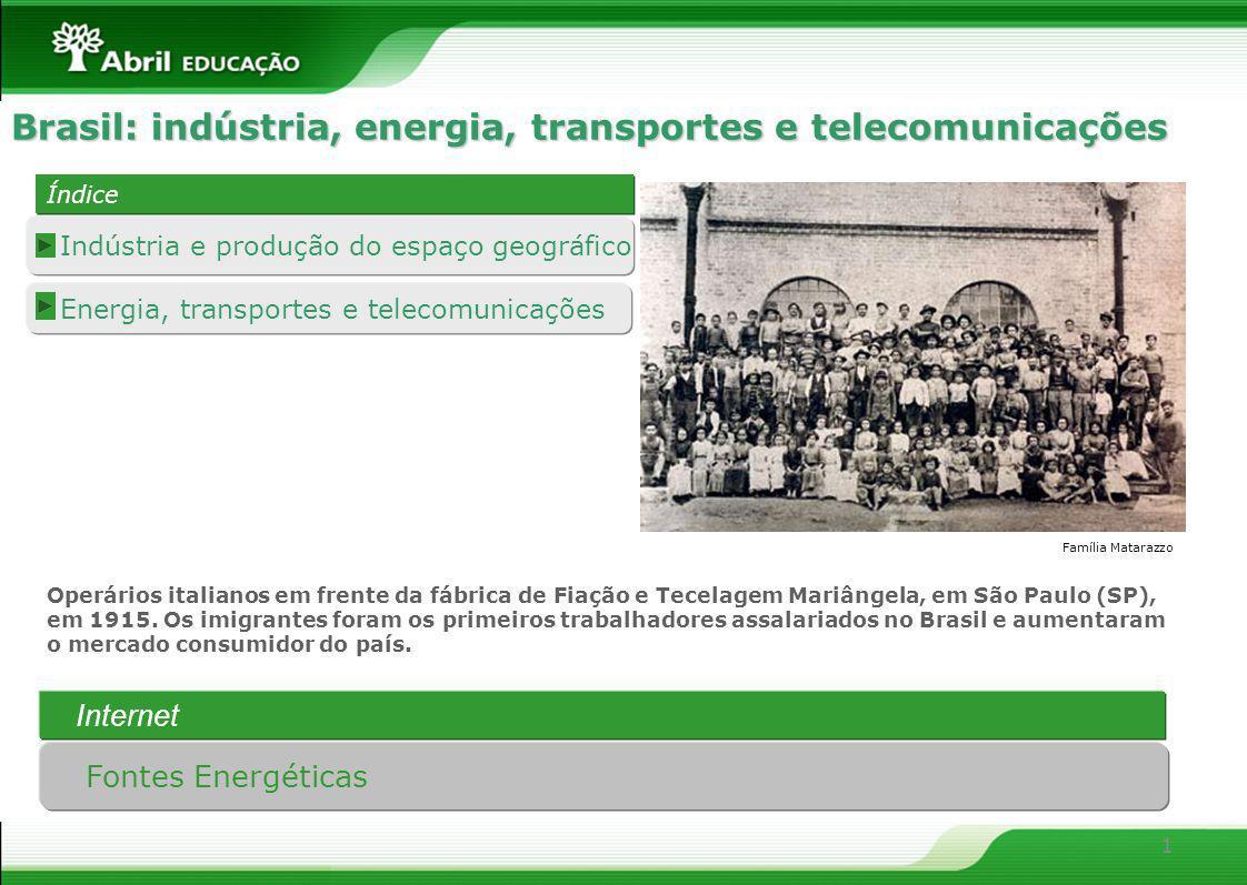 Brasil: indústria, energia, transportes e telecomunicações