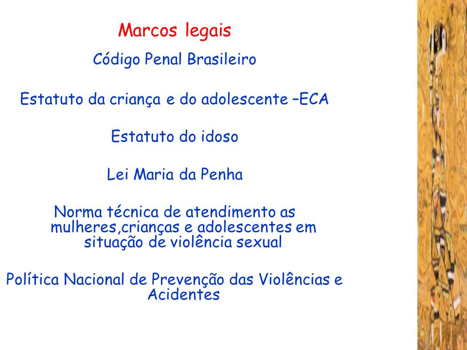 Marcos legais Código Penal Brasileiro