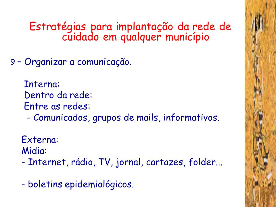 Estratégias para implantação da rede de cuidado em qualquer município