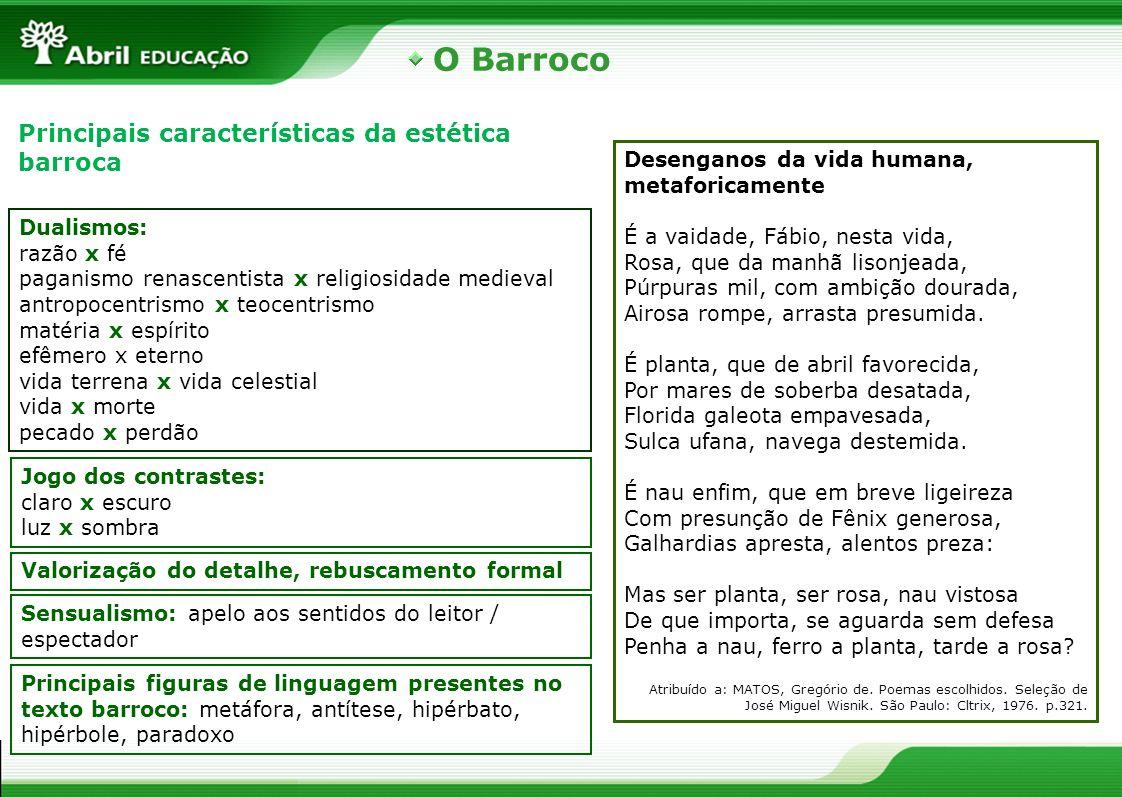 O Barroco Principais características da estética barroca
