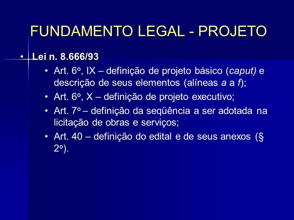FUNDAMENTO LEGAL - PROJETO