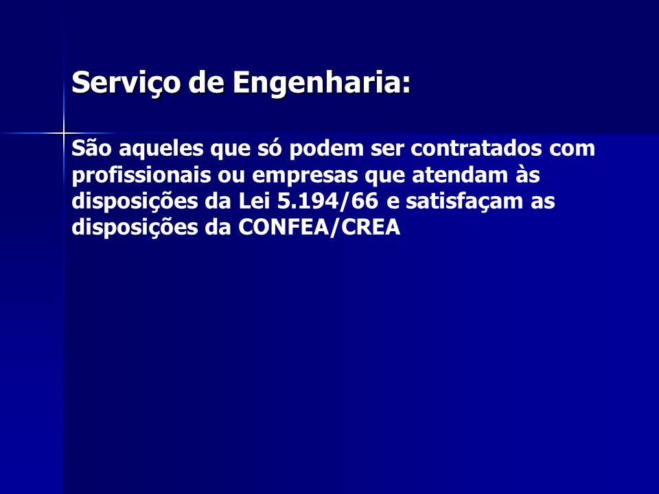 Serviço de Engenharia: