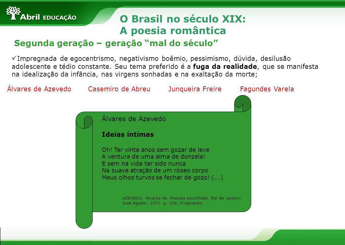 O Brasil no século XIX: A poesia romântica