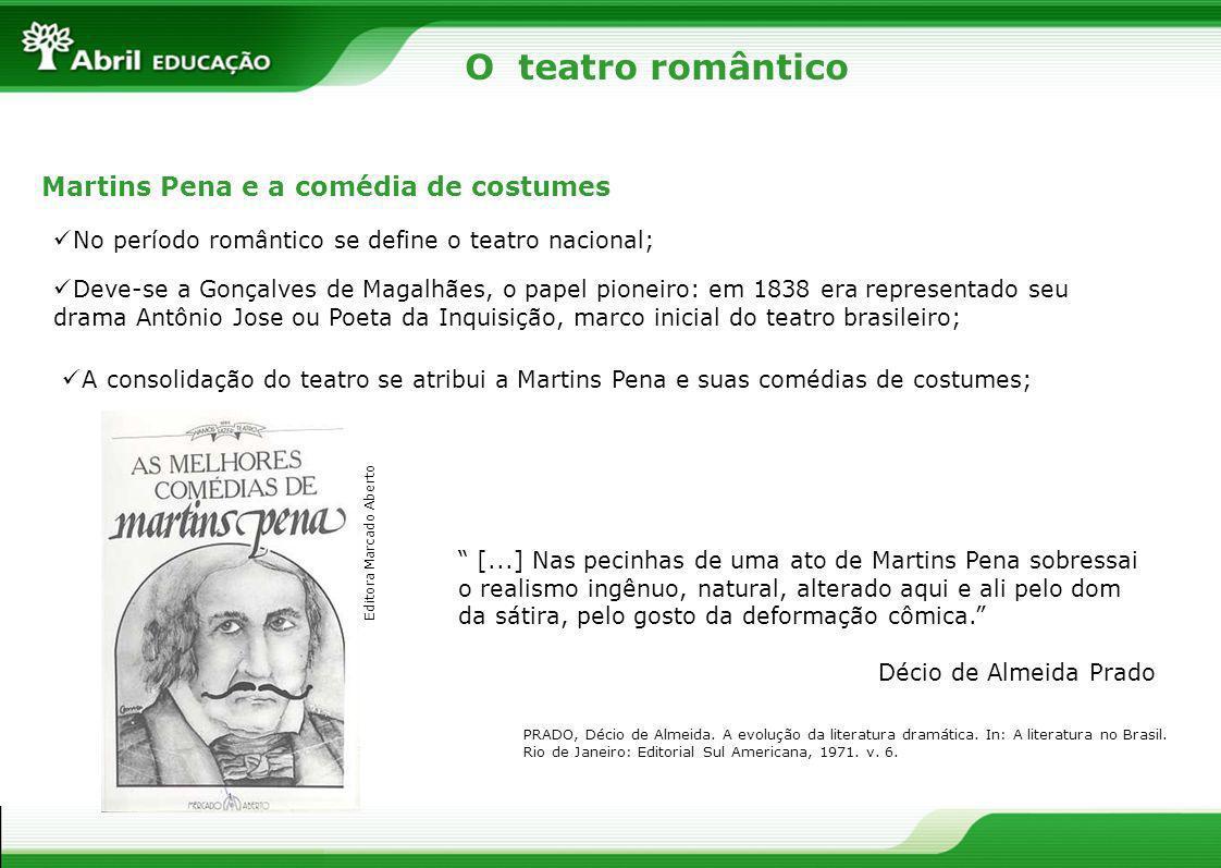 O teatro romântico Martins Pena e a comédia de costumes