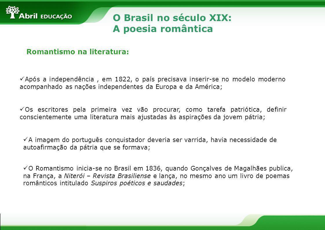 O Brasil no século XIX: A poesia romântica Romantismo na literatura: