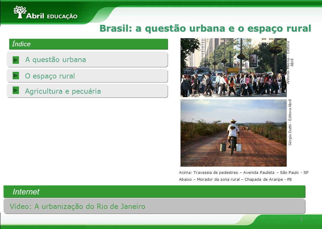 Brasil: a questão urbana e o espaço rural