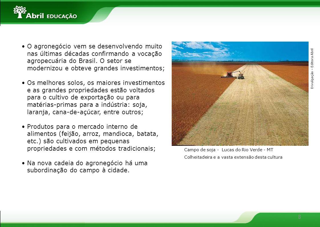 Na nova cadeia do agronegócio há uma subordinação do campo à cidade.