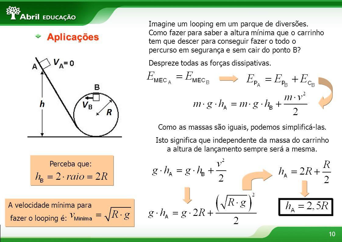 Como as massas são iguais, podemos simplificá-las.