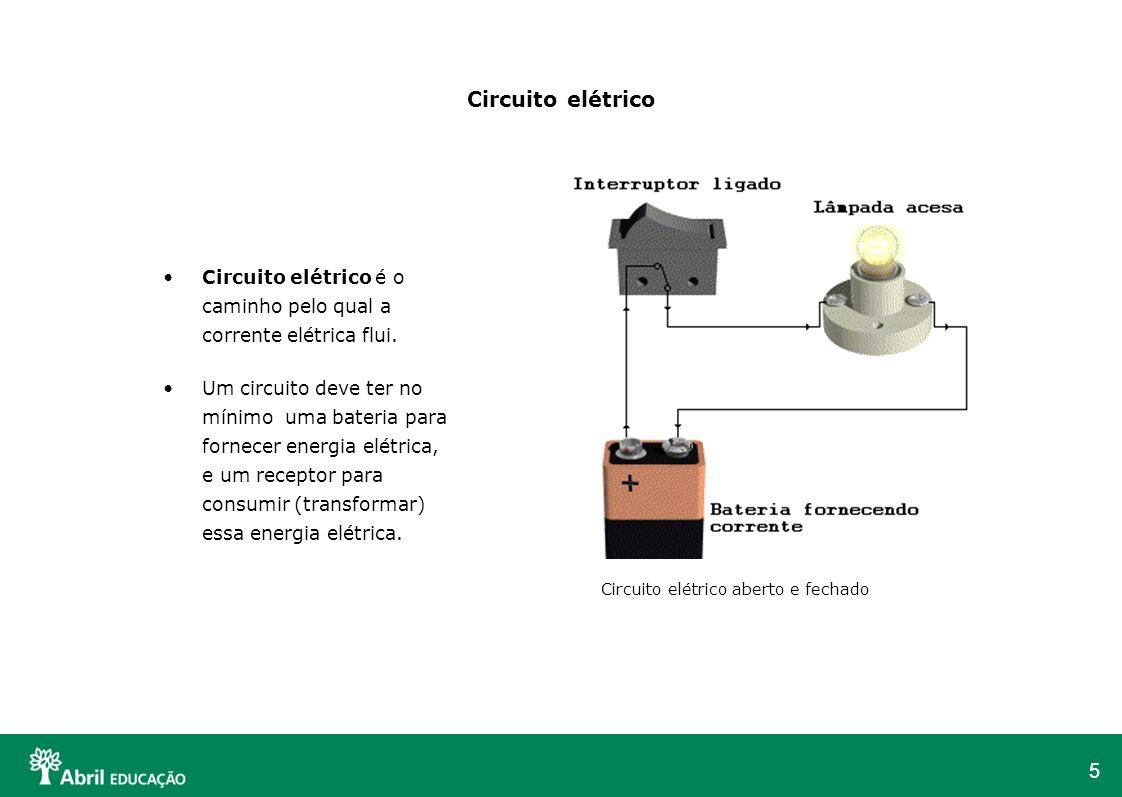 Circuito elétrico Circuito elétrico é o caminho pelo qual a corrente elétrica flui.
