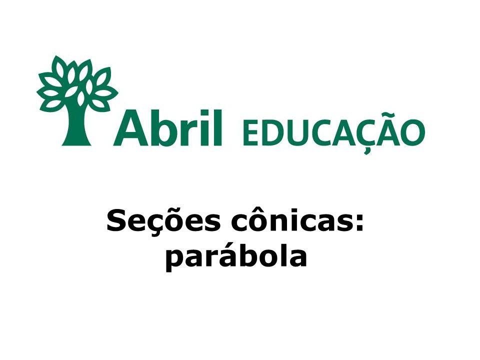 Seções cônicas: parábola