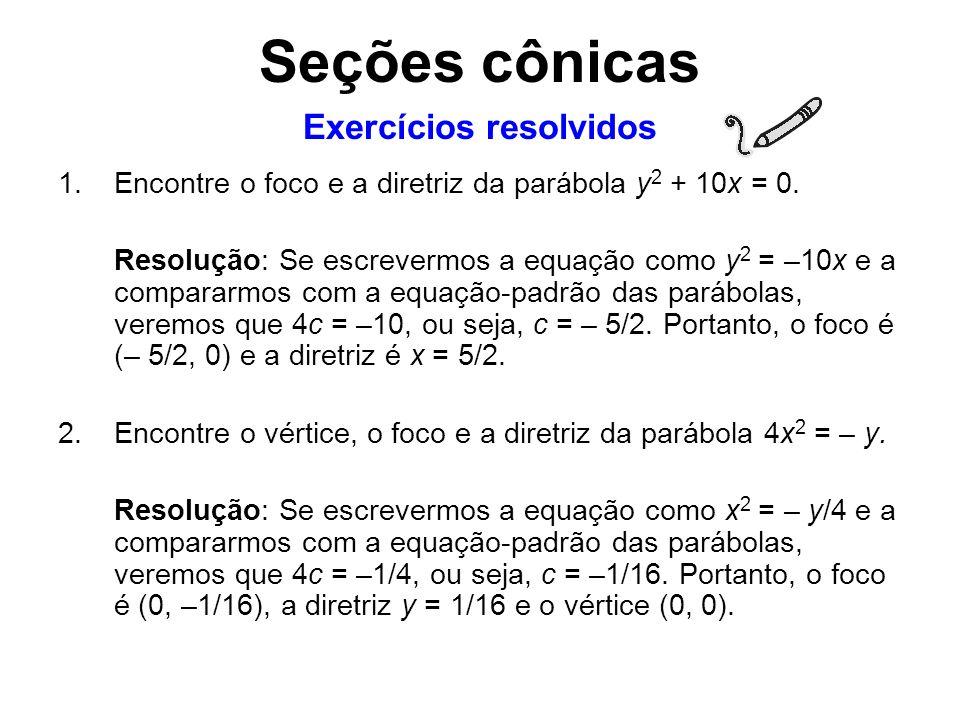 Exercícios resolvidos