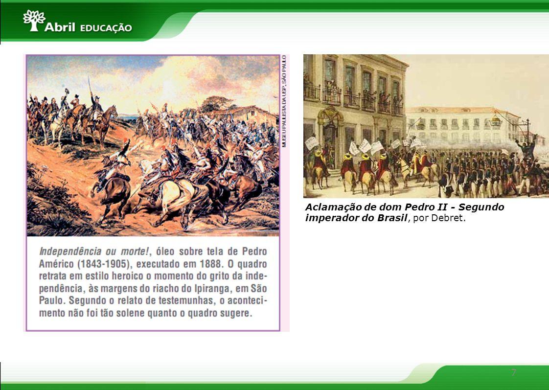 Aclamação de dom Pedro II - Segundo imperador do Brasil, por Debret.