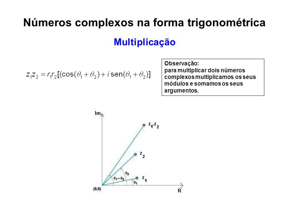 Números complexos na forma trigonométrica